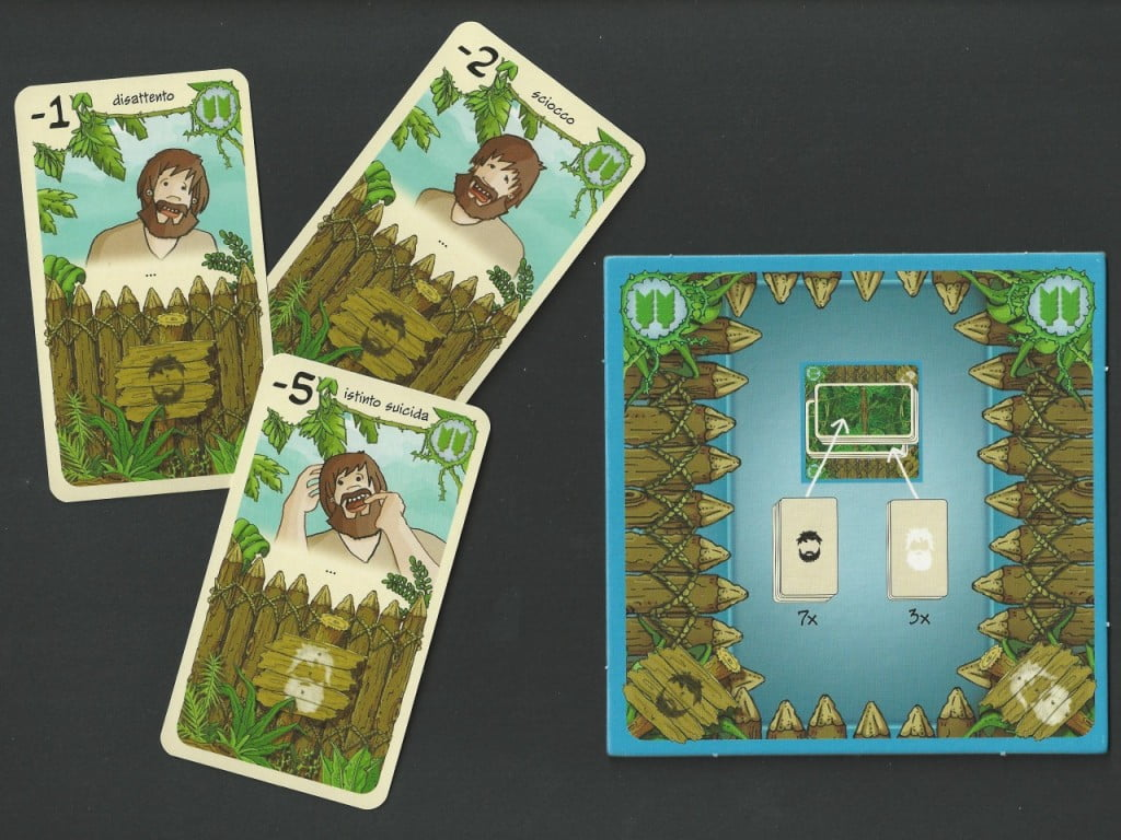 Mini-Board Carte Invecchiamento con alcune sventure che l'età porta al povero Robinson