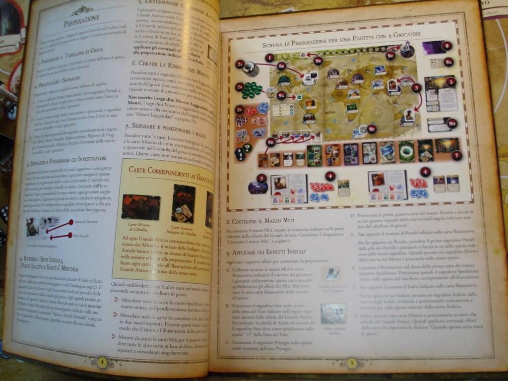 """Il manuale di gioco. Diviso in due parti, rende molto facile la consultazione """"in gioco""""."""