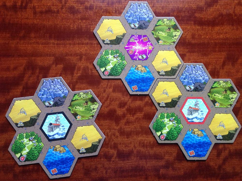 Le prime due regioni sono state sistemate: ora il secondo giocatore deve scegliere dove posizionare la terza