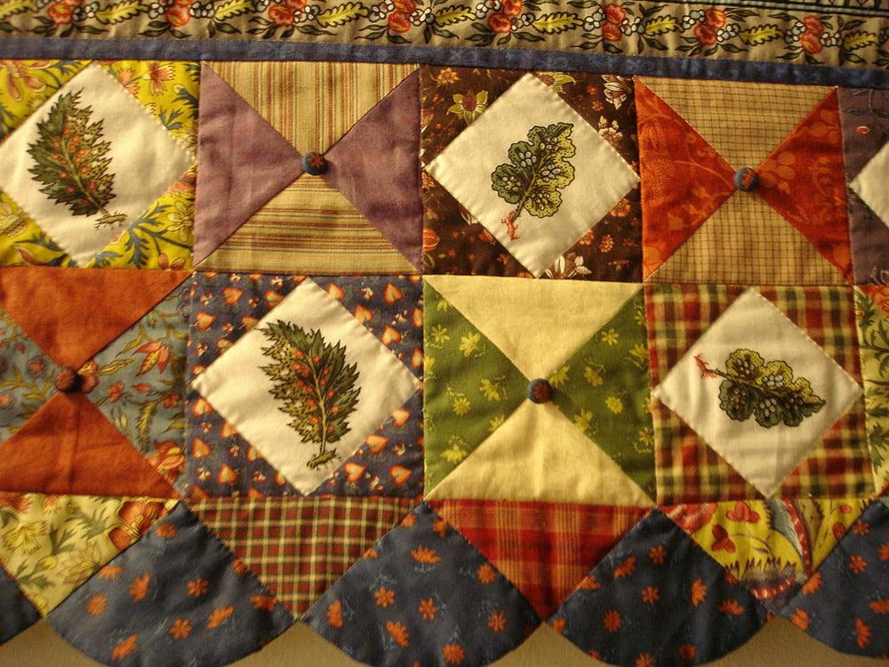 Un esempio di coperta realizzata con la tecnica patchwork...