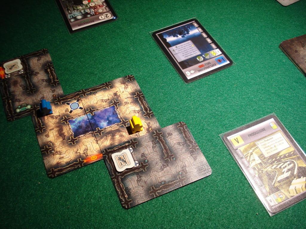 Inizio di una partita ad Artefatti Alieni con l'Orb.