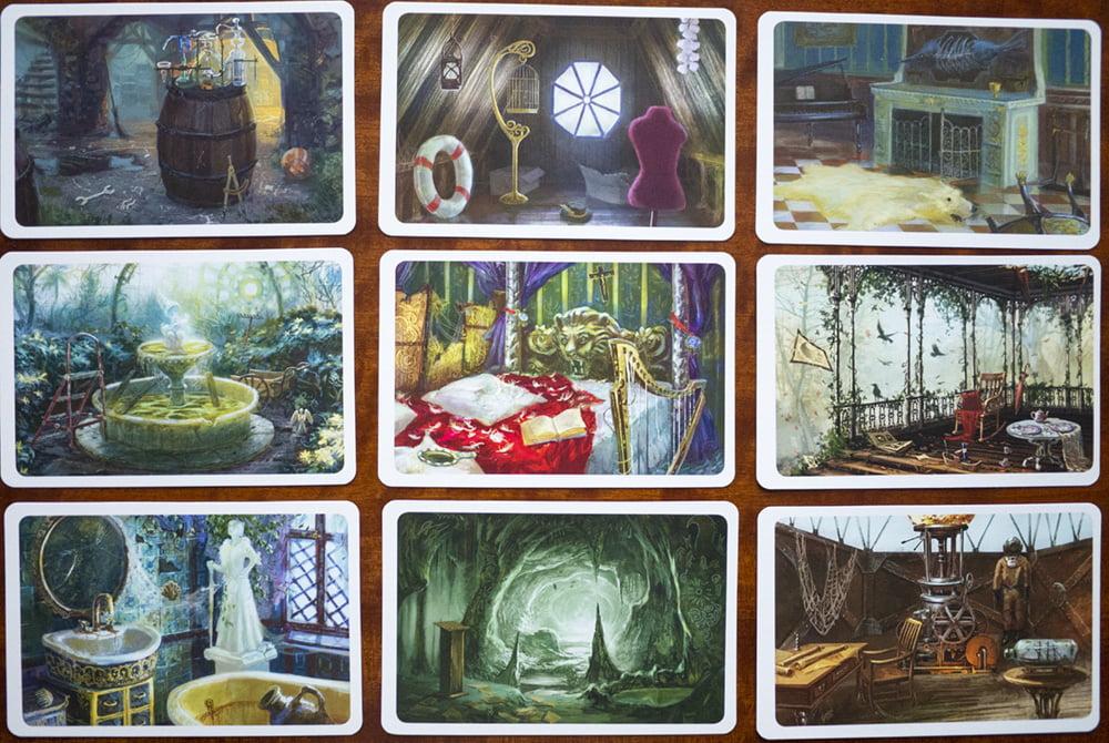 """Anche le carte luogo presentano delle illustrazioni un po' """"barocche"""" che si prestano a molteplici interpretazioni."""