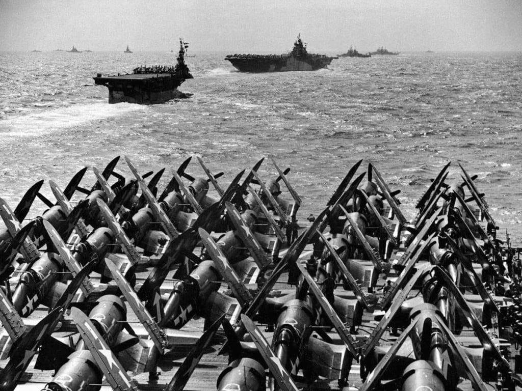 Nella guerra nel Pacifico le vere protagoniste furono le portaerei.