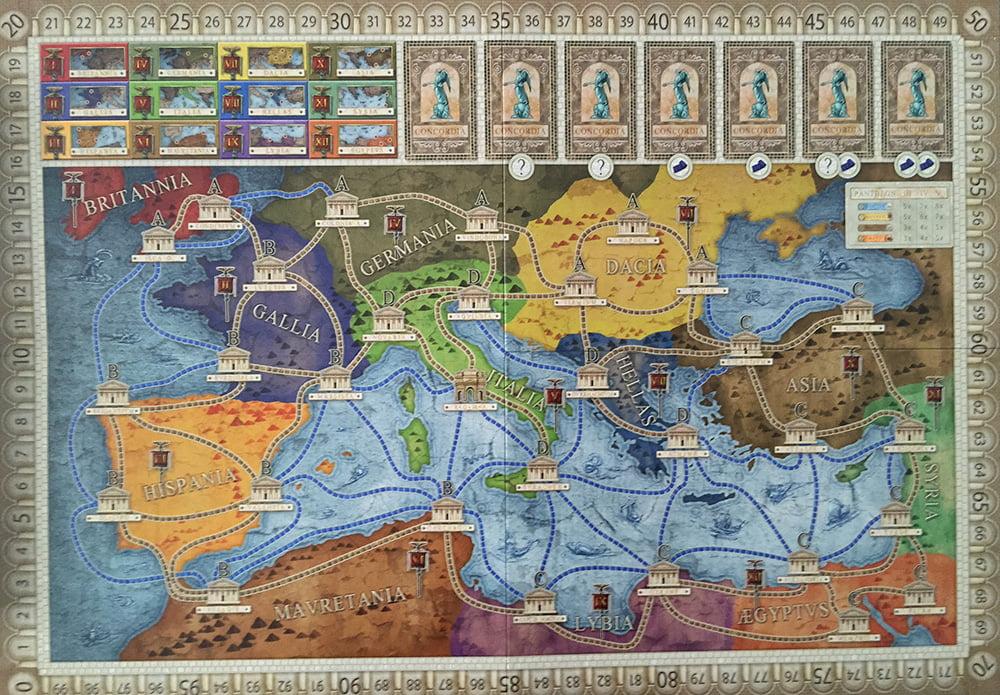 """La mappa Imperium, con il mondo conosciuto dai Romani: manca giusto la dicitura """"Hic sunt leones""""..."""