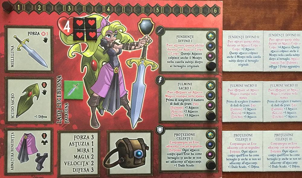 Lady Lucebuona è pronta per l'avventura, con le sue abilità speciali in attesa di essere sviluppate...