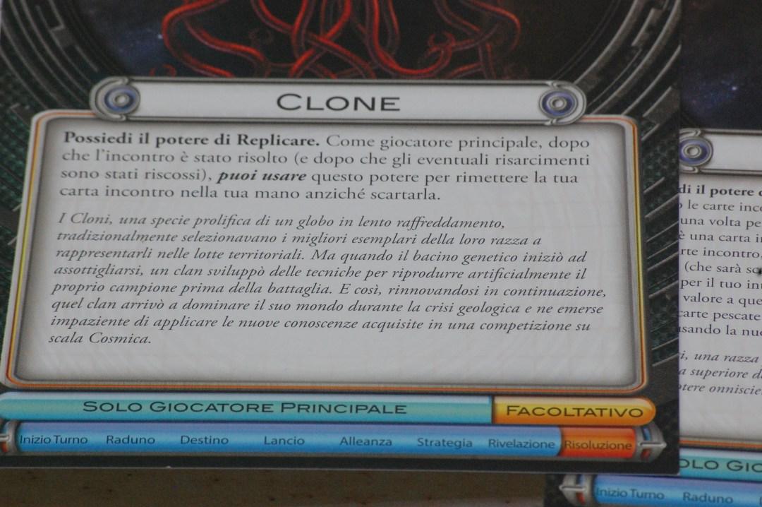 Il potere della razza Clone è davvero notevole: permette di recuperare l'ultima carta incontro giocata, e se questa ha un valore molto alto diventa davvero difficile da sconfiggere.