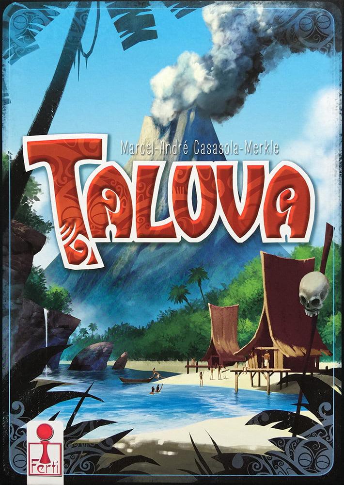 La copertina del gioco: il pennacchio di fumo che si leva dal vulcano non lascia presagire nulla di buono...