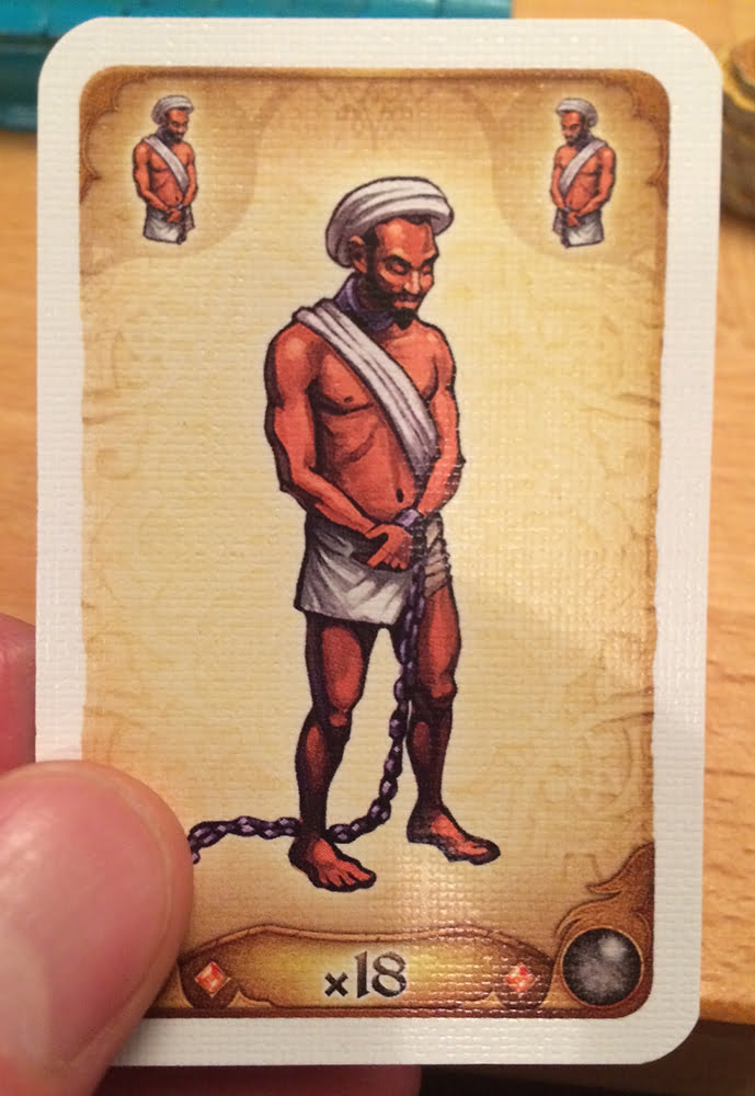 La tanto discussa carta schiavo, sostituita nella versione italiana dal fachiro.