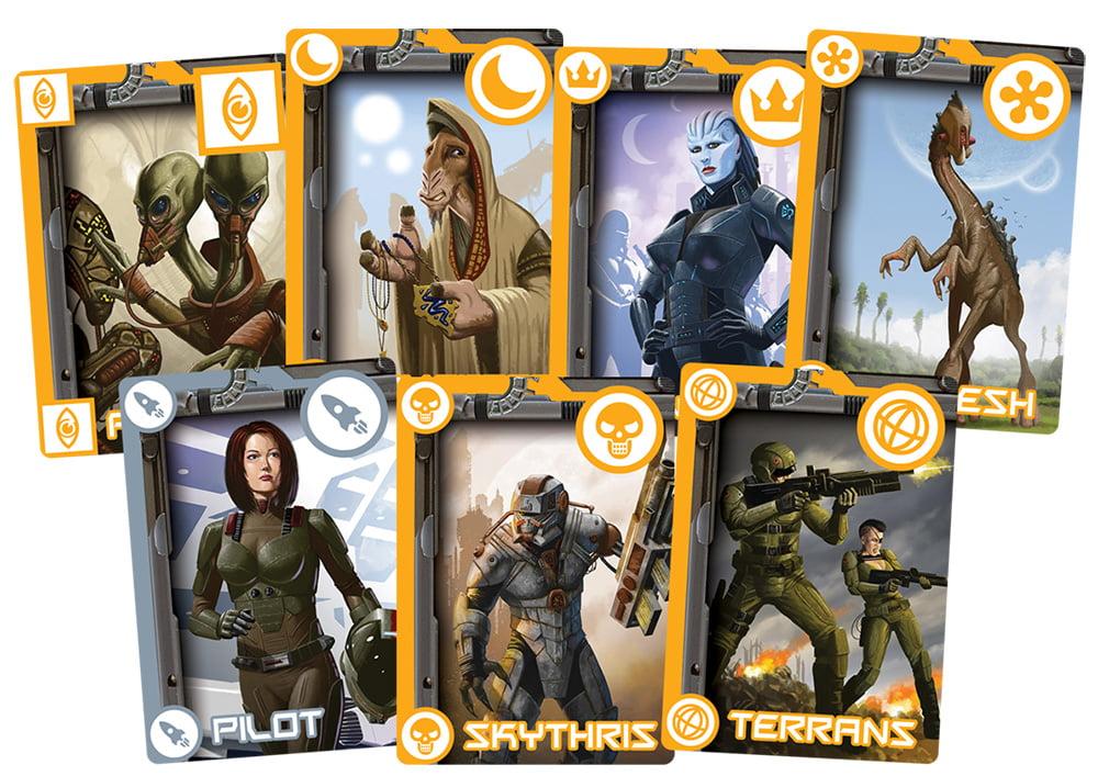Alcune delle carte che faranno parte del gioco.