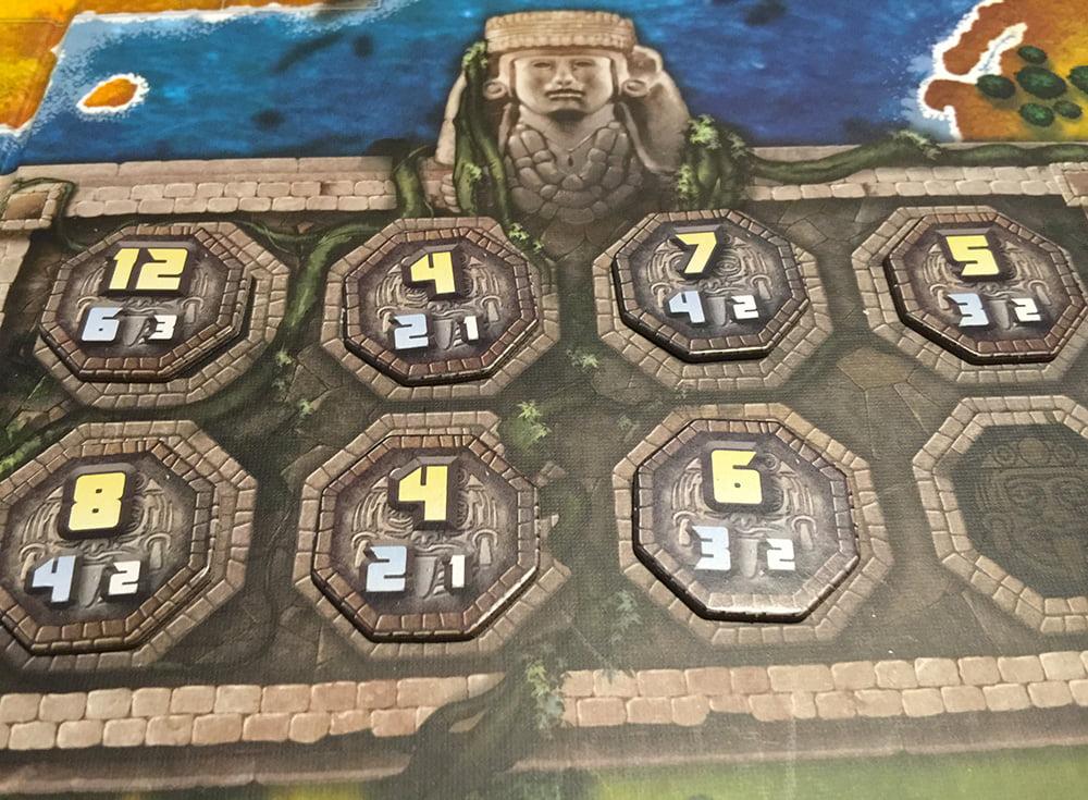 Il secondo periodo della partita inizia svelando i 7 Calpulli rimasti nel sacchetto.