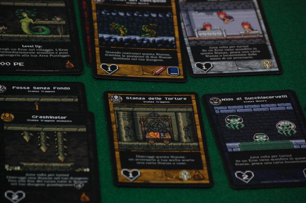 """Un tipico Dungeon che abbiamo messo su due righe (anche in foto successive) per motivi """"fotografici. LA parte """"sotto"""" stare a destra di quella """"sopra""""."""