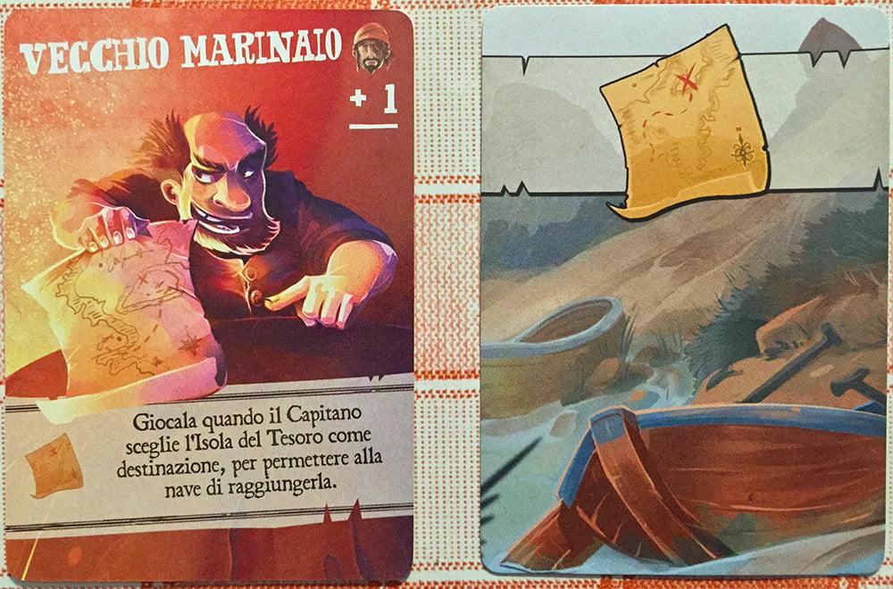 Il vecchio marinaio è l'unico membro della ciurma ad avere la mappa per raggiungere l'isola del tesoro!