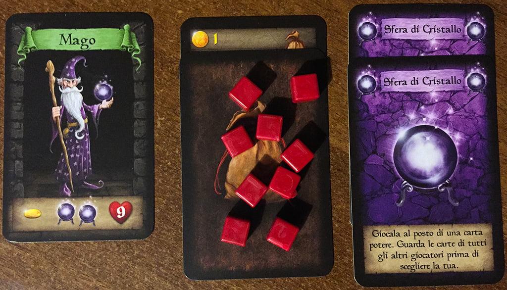 Il giocatore che impersona il mago è pronto per affrontare il dungeon.