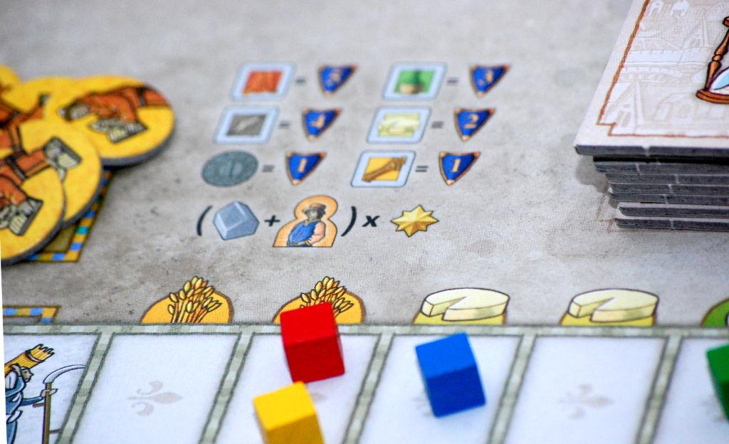La tabella dei punti vittoria, con calcoli da fare degni del Eurogames più complessi.