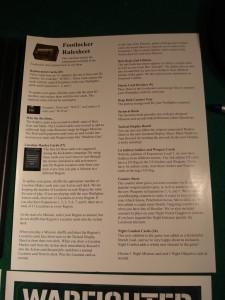 Questo foglio vi aiuterà a capire come usare i nuovi componenti, oltre a contenere le nuove regole per le missioni notturne.