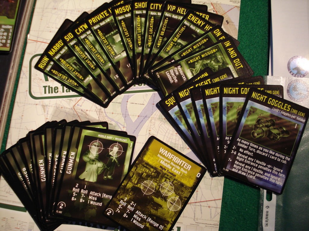 Le carte per le missioni notturne.