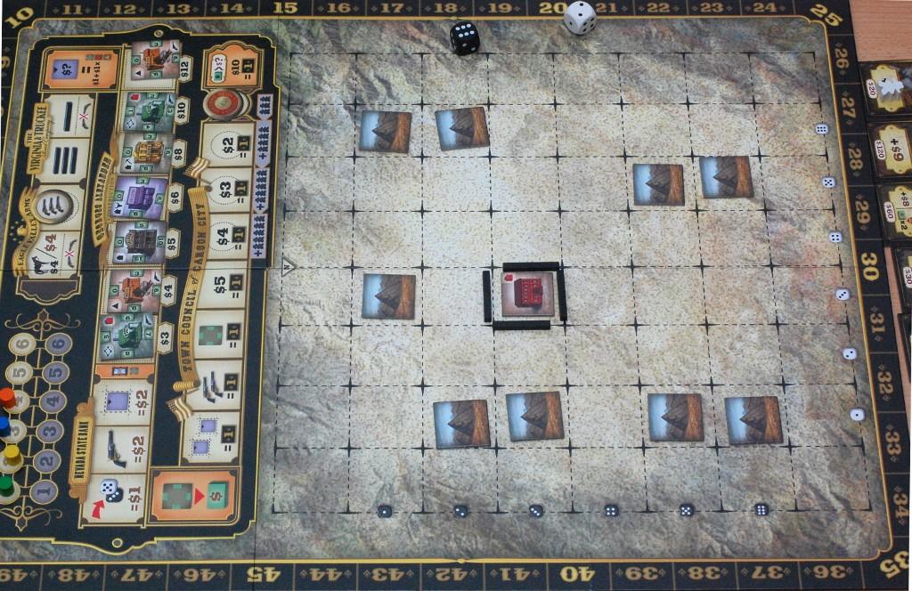 La mappa di gioco (con il setup fatto)