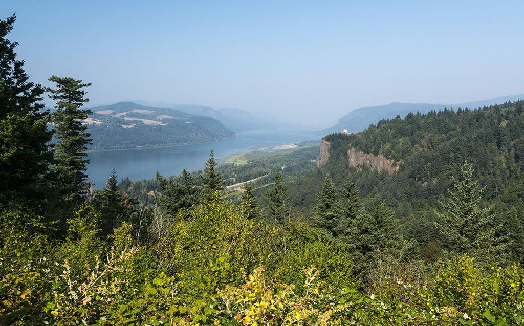 Le rive del fiume Columbia in Oregon: