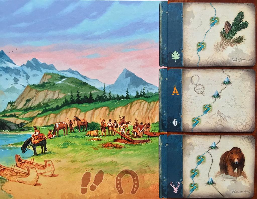 Le 3 carte scoperta a disposizione di tutti, accanto alla plancia principale.