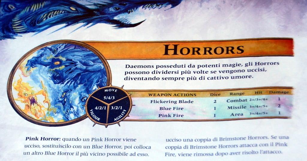 Le caratteristiche dei mostri si trovano a fine manuale
