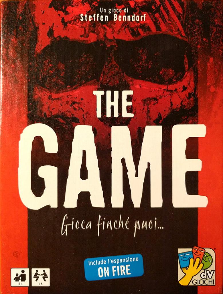 La copertina di The Game: in basso a destra, campeggia il logo della nomination allo Spiel des Jahres 2015.