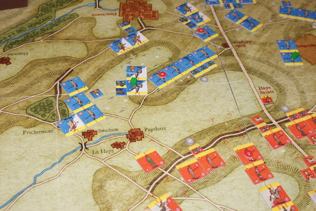La battaglia all'ala destra francese