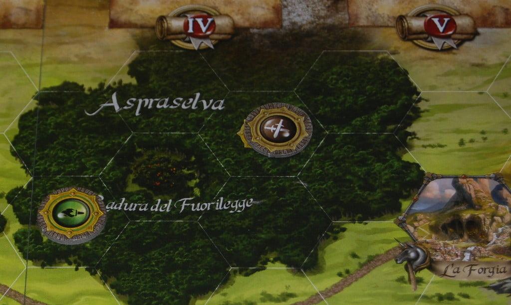 Un dettaglio della mappa