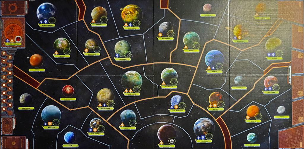 Il tabellone principale al gran completo: le dimensioni della mappa sono davvero imponenti!