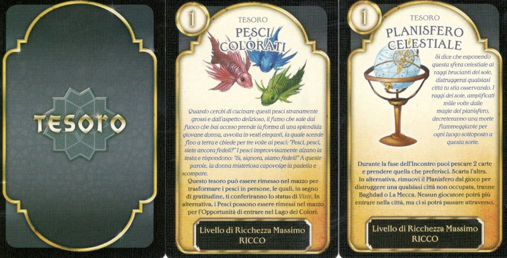 Le carte tesoro