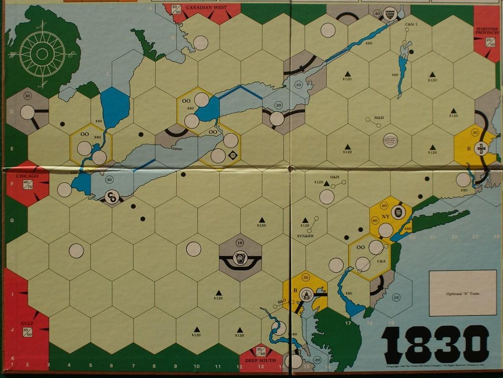 La mappa di 1830