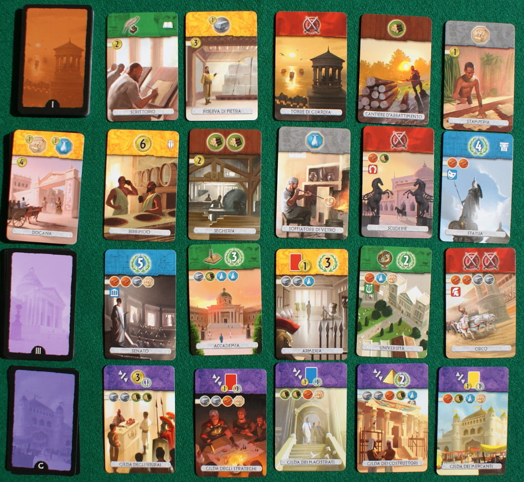 Tutte i tipi carte divisi secondo le Epoche