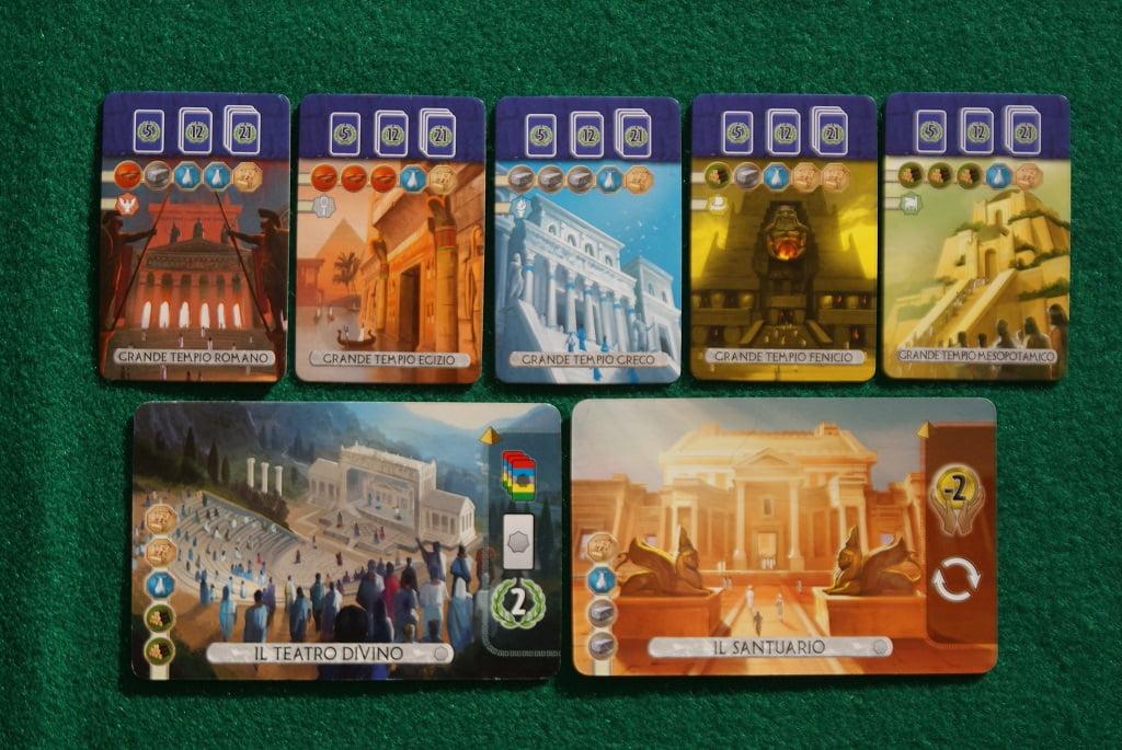 Le carte Grande Tempio e le due nuove Meraviglie