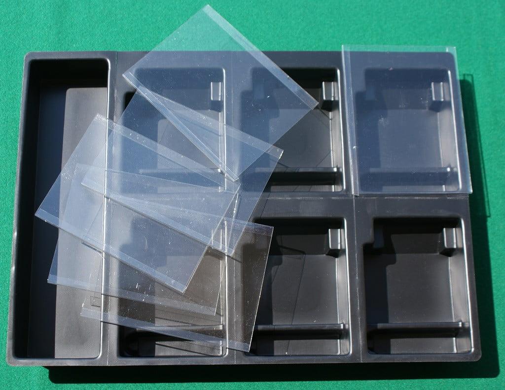 Il termoformato ed i coperchi trasparenti