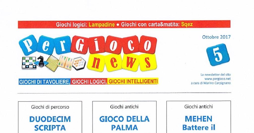 BigCream: PER GIOCO NEWS n° 5
