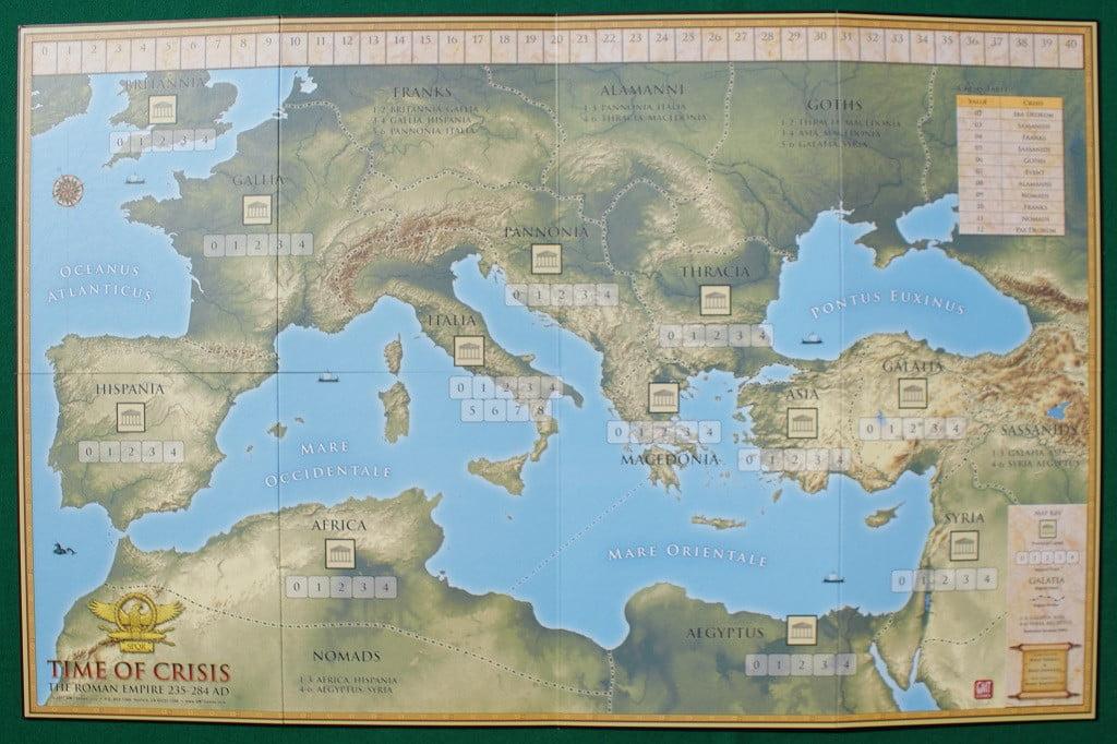 Il tabellone con tutte le Province dell'Impero