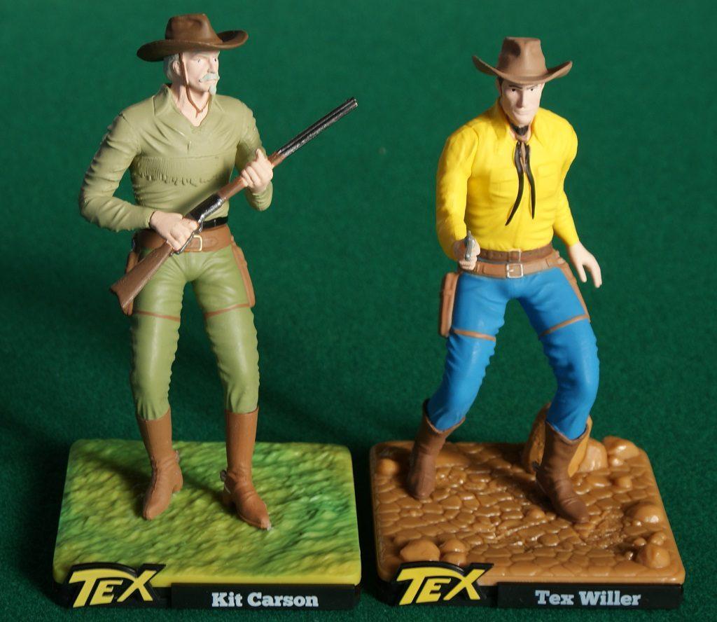 Tex e Kit Carson nella riproduzione della serie TEX 3D