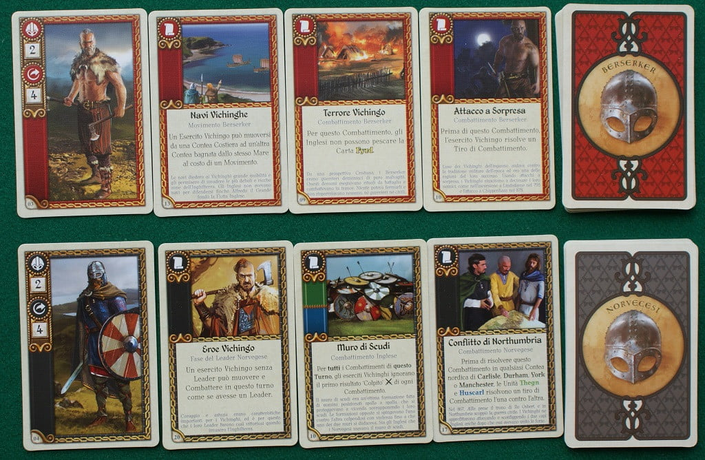 Le carte dei leader Vichinghi.