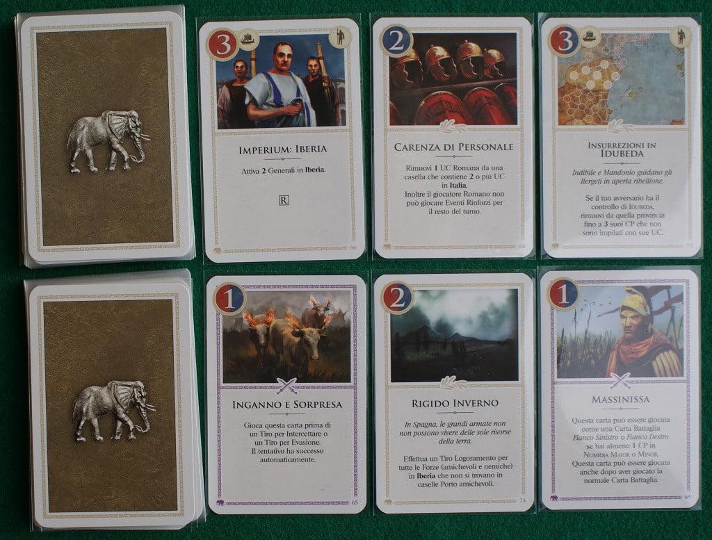"""Alcune delle carte """"Strategia"""""""