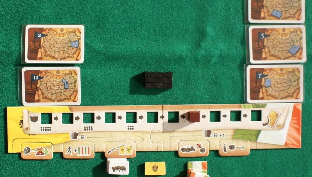 La plancia del gioco avanzato in azione in azione