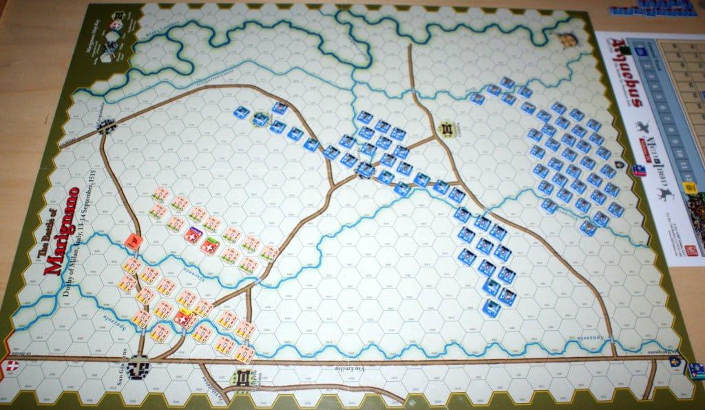 Il set-up della battaglia di Marignano