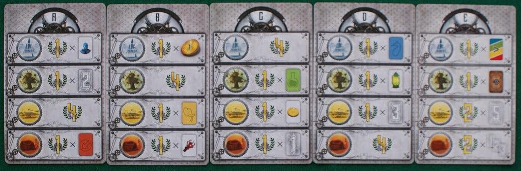 Le carte obiettivo