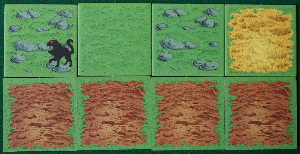 I quattro tipi di tessere.