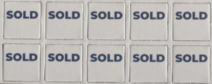 """Le tessere """"SOLD"""""""