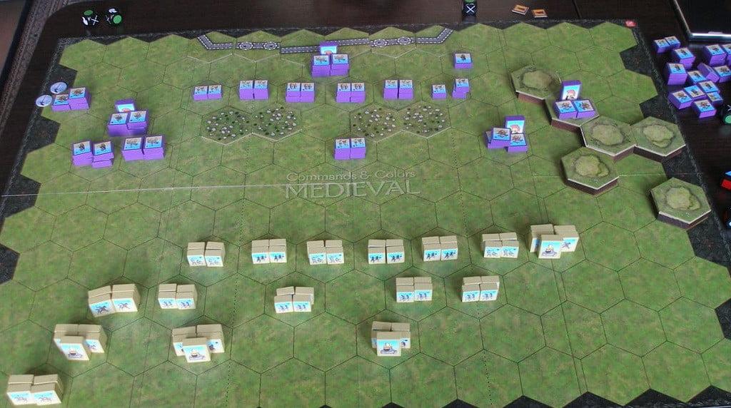 Le truppe schierate prima della battaglia di Dara