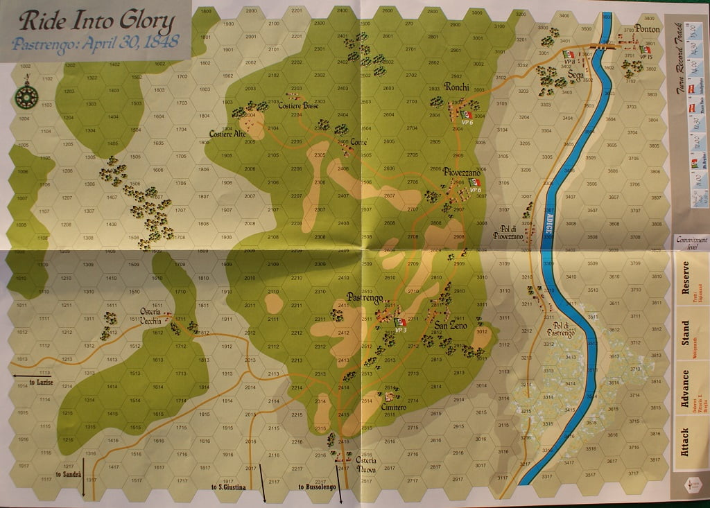 Il campo di battaglia di Pastrengo.
