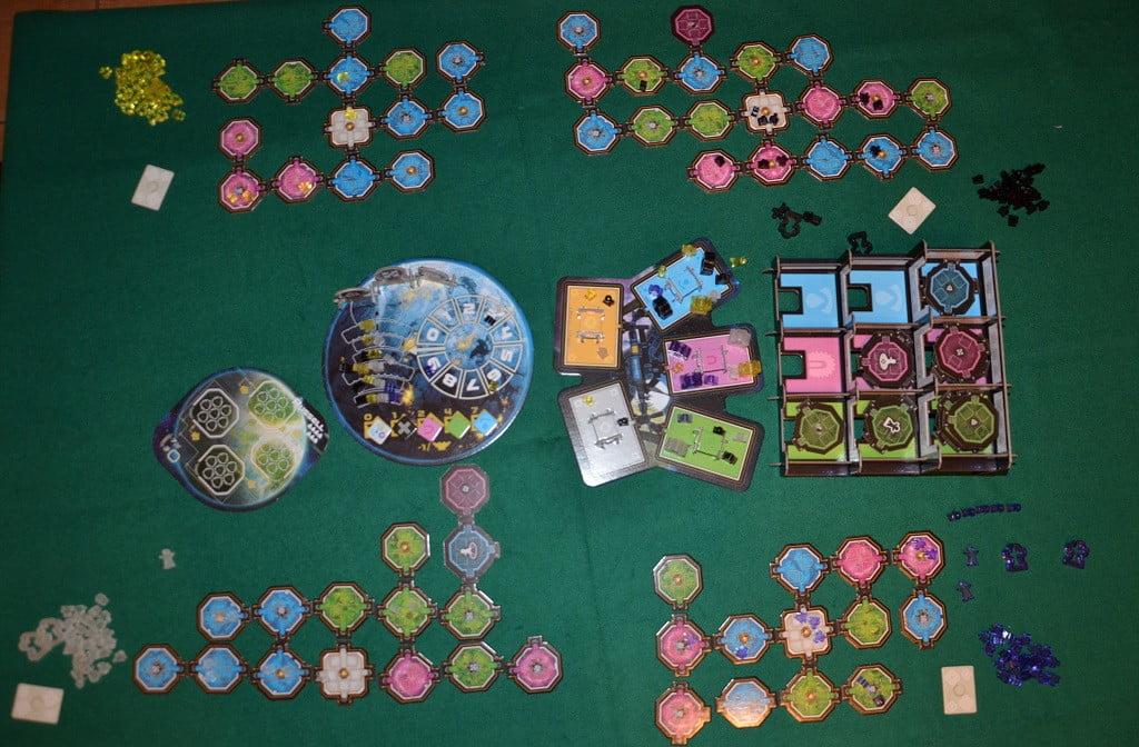 Il tavolo alla fine di una partita