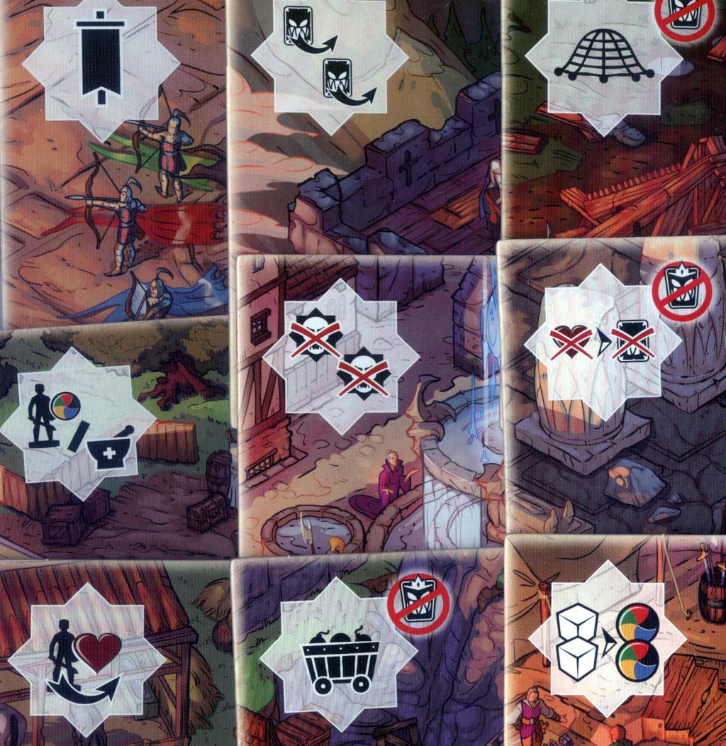 Le icone delle tessere Bastione che compongono la mappa