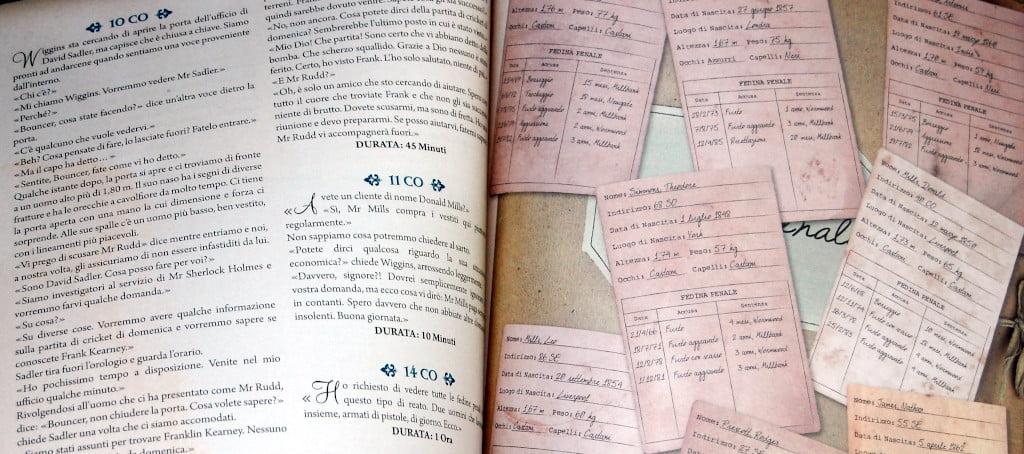Dettaglio di un libro dei casi
