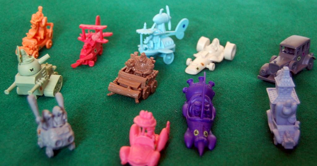 Le miniature delle vetture in corsa