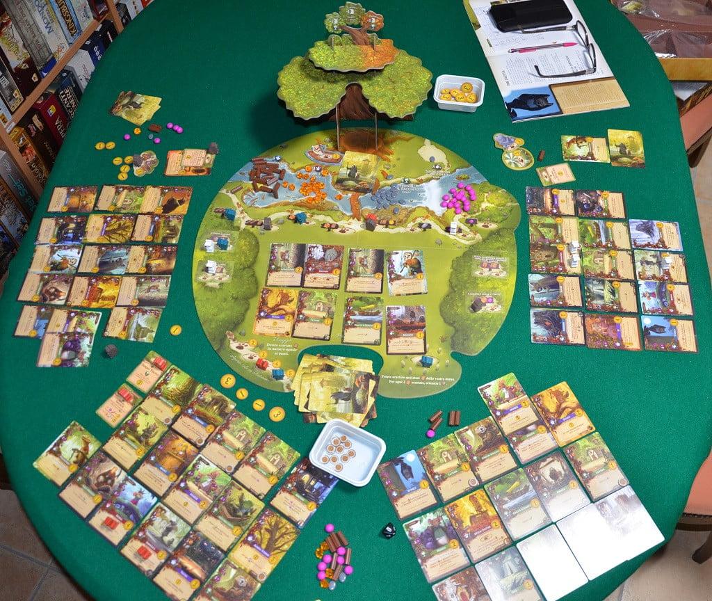 Il tavolo da gioco al termine di una partita